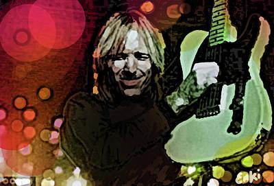 Def Leppard Mixed Media - Tom Petty Rocks  by Enki Art