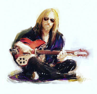 Musicians Royalty-Free and Rights-Managed Images - Tom Petty by Russell Pierce