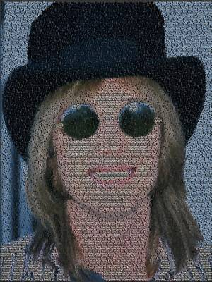 Painting - Tom Petty Song List Mosaic by Paul Van Scott