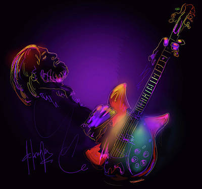 Painting - Tom Petty Tribute 1 by DC Langer