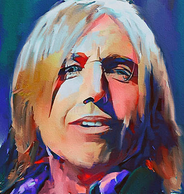Digital Art - Tom Petty Tribute Portrait 2 by Yury Malkov