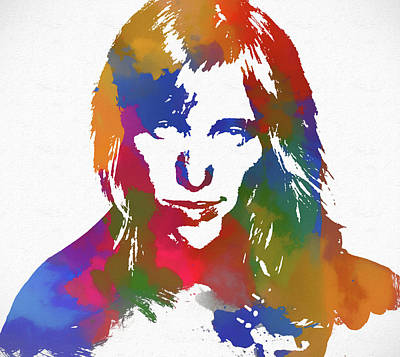 Painting - Tom Petty Watercolor by Dan Sproul