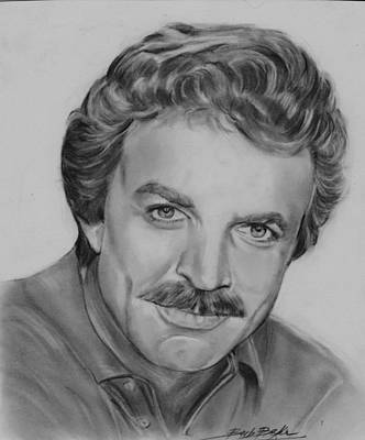 Drawing - Tom Selleck by Barb Baker