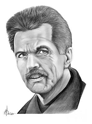 Famous People Drawing - Tom Skerritt by Murphy Elliott
