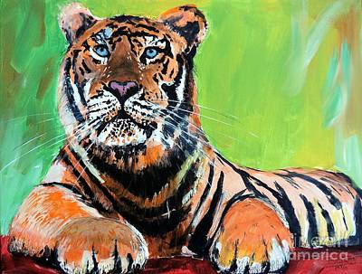 Painting - Tom Tiger by Tom Riggs