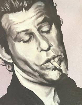 Drawing - Tom Waits A by Brent Andrew Doty