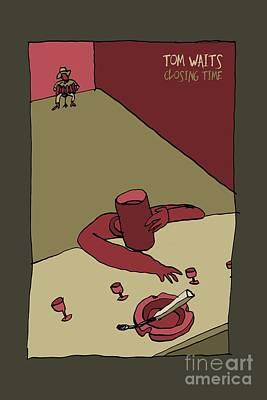 Tom Waits - Closing Time Art Print
