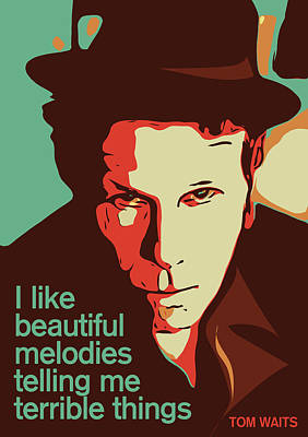 Jazz Digital Art - Tom Waits by Greatom London