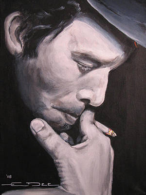 Celebrity Portrait Painting - Tom Waits Two by Eric Dee