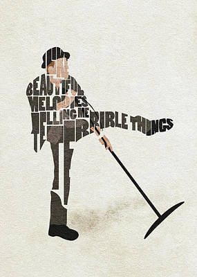 Digital Art - Tom Waits Typography Art by Inspirowl Design
