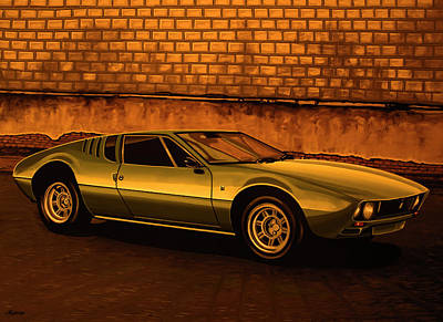 Tomaso Mangusta Mixed Media Art Print by Paul Meijering