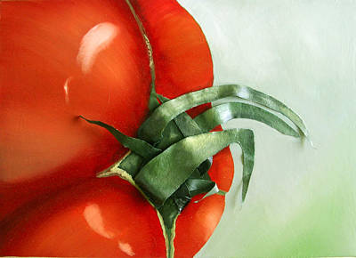 Tomato - Original Sold Art Print by Cathy Savels