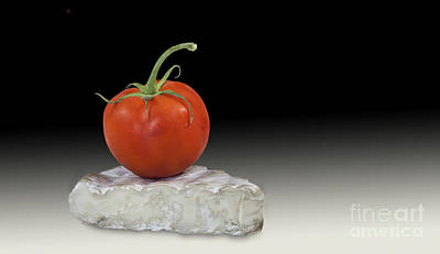 Photograph - Tomato And Brie by Shirley Mangini