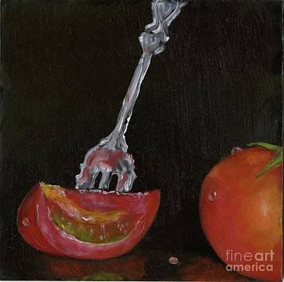 Painting - Tomato Appetizer by Sheryl Heatherly Hawkins