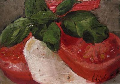Tomato Basil And Mozarella Art Print by Barbara Andolsek