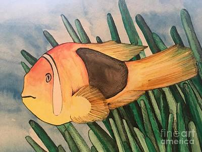 Tomato Clown Fish Art Print