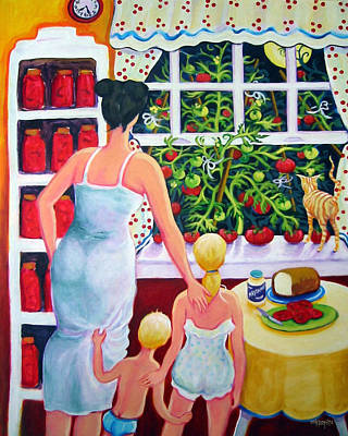 Sandwich Painting - Tomato - Materphobia by Rebecca Korpita