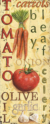 Onion Painting - Tomato Soup by Debbie DeWitt
