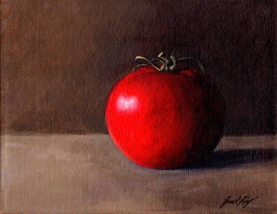 Tomato Still Life 1 Print by Janet King
