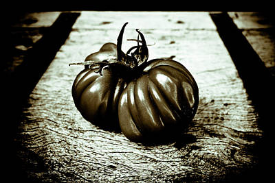 Photograph - Tomato Still Life Black And White by Frank Tschakert
