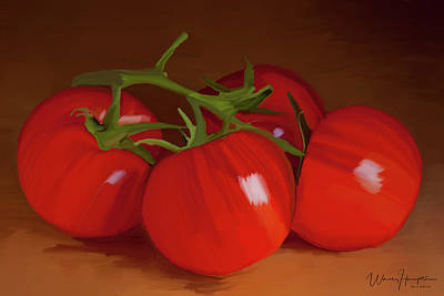 Painting - Tomatoes 01 by Wally Hampton