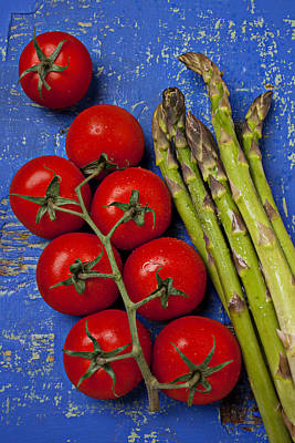 Asparagus Photograph - Tomatoes And Asparagus  by Garry Gay