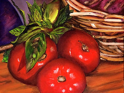 Painting - Tomatoes And Basil by Terry R MacDonald