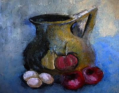 Impressionism Painting - Tomatoes And Eggs Still-life by Lisa Kaiser