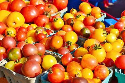 Photograph - Tomatoes At The Farmer's Market by Kim Bemis