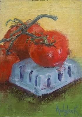 Painting - Tomatoes by Barbara Andolsek
