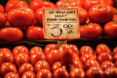 Photograph - Tomatoes For Sale by Jerry Fornarotto