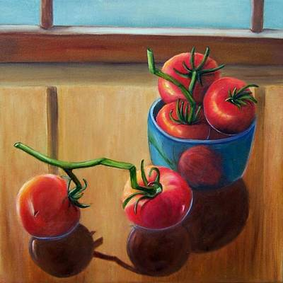 Tomatoes Fresh Off The Vine Art Print
