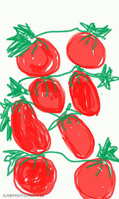 Photograph - Tomatoes by Kathy Barney