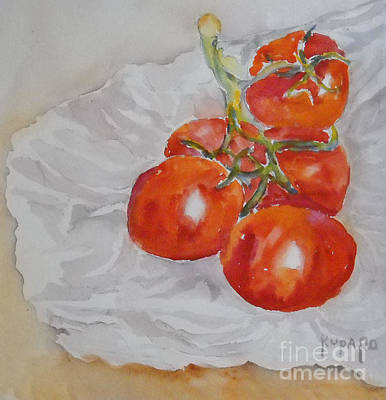 Painting - Tomatoes by Linda Rupard