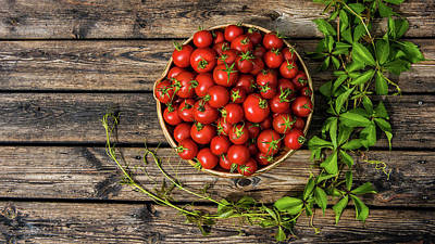 Photograph - Tomatoes Rustic by Torbjorn Swenelius