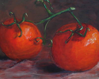 Painting - Tomatoes by Sarah Barnaby