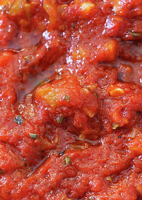 Photograph - Tomatoes Sauce by Munir Alawi
