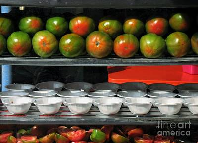 Tomatoes With Ginger Sauce Art Print by Yali Shi