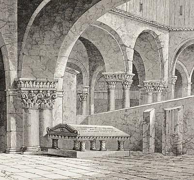 Tomb Of Godfrey De Boullon, C 1060 - Art Print