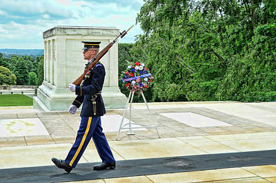 Photograph - Tomb Of The Unknown Soldier # 3 by Allen Beatty
