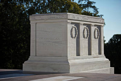 Marble Tomb-stones Photograph - Tomb Of The Unknown Soldier, Arlington by Terry Moore