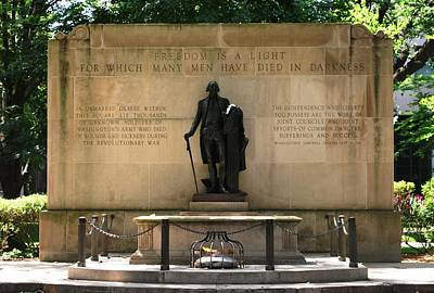 Photograph - Tomb Of The Unknown Soldier - Washington Square In Philadelphia by Matt Harang