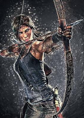 Digital Art - Tomb Raider by Taylan Apukovska
