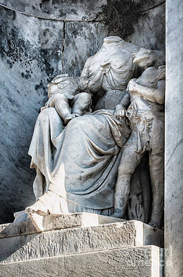Photograph - Tomb Sculpture-headless-nola by Kathleen K Parker