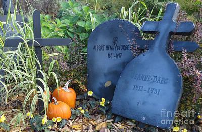 Tombes // Halloween // Gravestones Art Print by Dominique Fortier