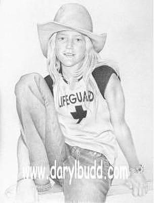 Tomboy Drawing - Tomboy by Daryl Budd