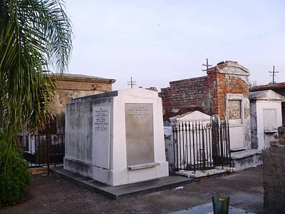 Tombs In St. Louis Cemetery Art Print