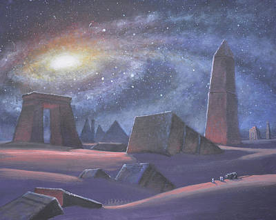 Painting - Tombs Of The Ancients by Armand Cabrera