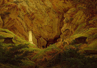 Caspar Painting - Tombs Of The Fallen In The Fight For Independence by Caspar David Friedrich