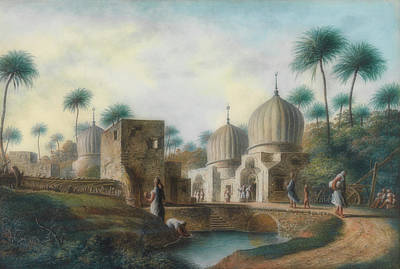 Painting - Tombs Of The Great Arab Saints In The Neighborhood Of Rosetta, E by Luigi Mayer